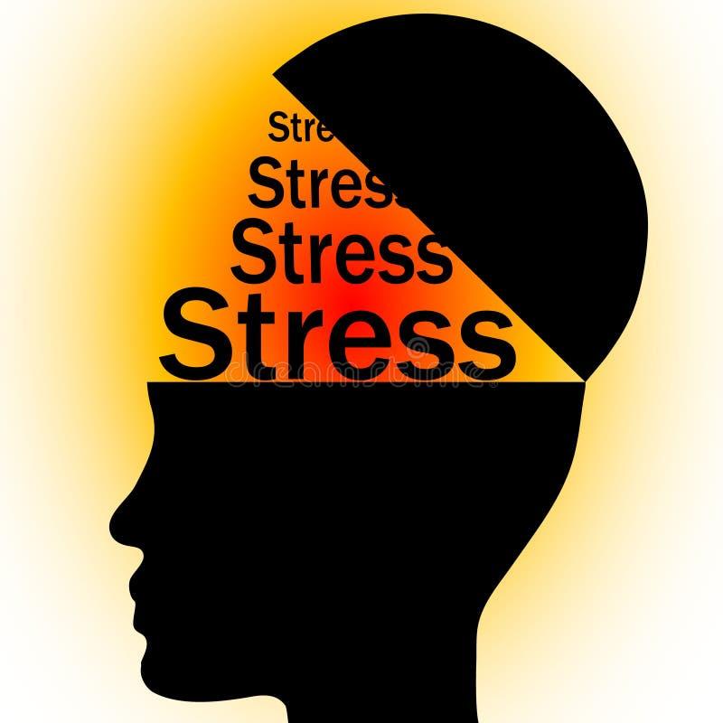 Stress in head royalty free illustration