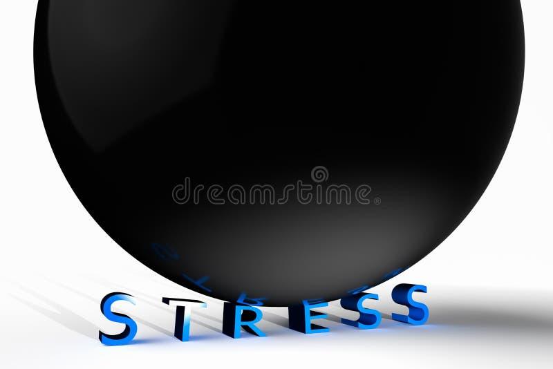 stress ilustração royalty free