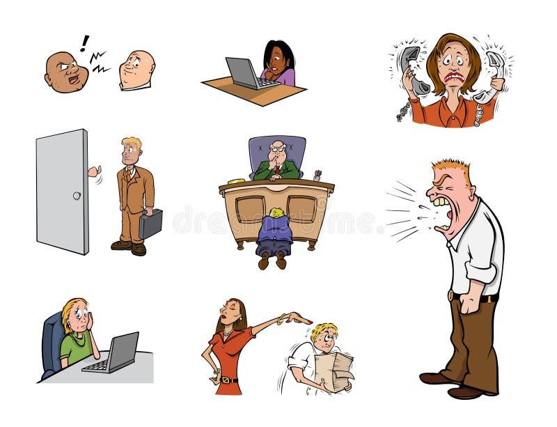 Stress laboral ilustración del vector