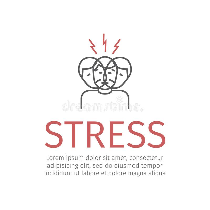 Stress line icon royalty free illustration