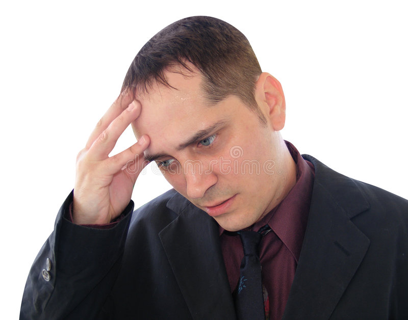 Stress Man Close Up stock images