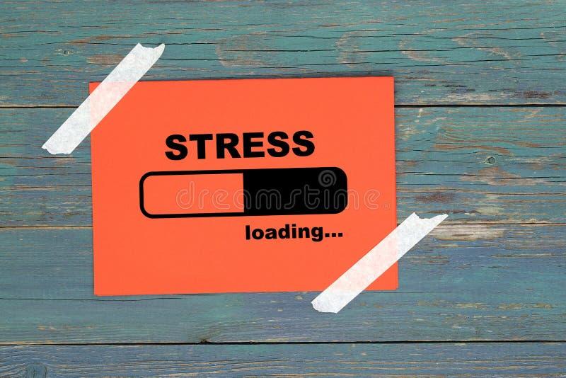 Stress på papper stock illustrationer