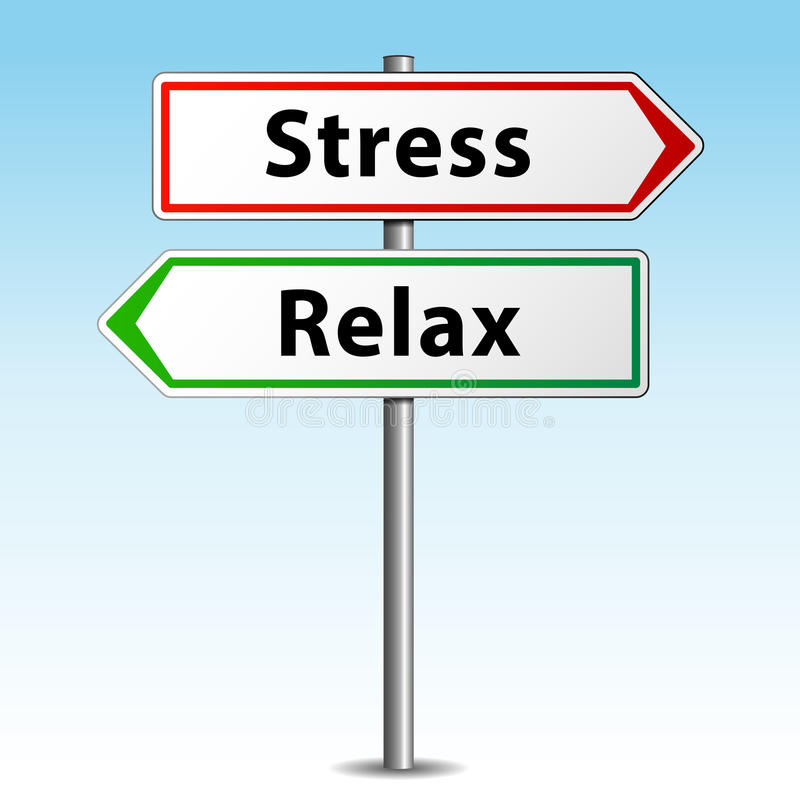 Stress or relax. Vector illustration of stress and relax concept signpost vector illustration