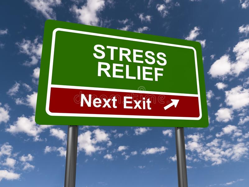 Stress relief sign royalty free stock photography