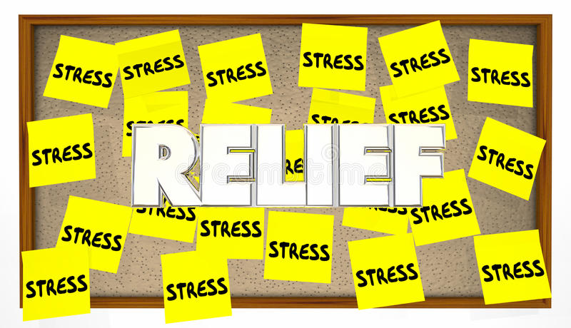 Stress Relief Sticky Notes Bulletin Board Help Calm vector illustration