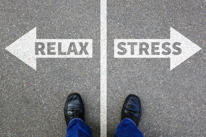 Stress stressed relax relaxed health businessman business concept problem stock images