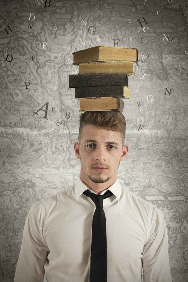 Stress In The Study Royalty Free Stock Image