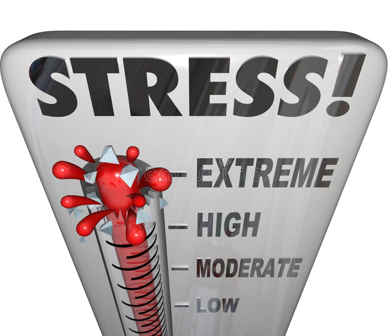 Stress Thermometer Overwhelming Too Much Work Load vector illustration