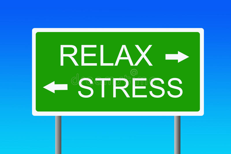 Stress versus relaxation vector illustration