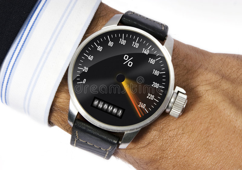 Stress watch. Wrist watch to measure the stress royalty free stock images