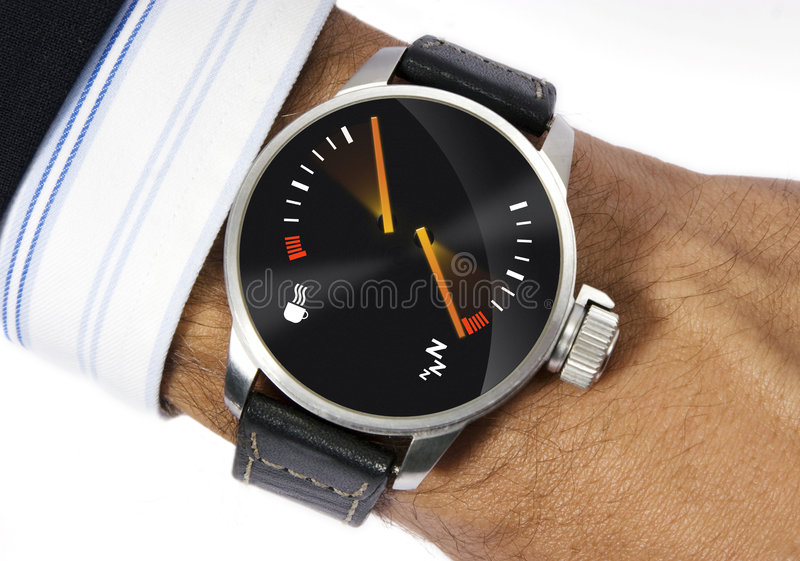 Download Stress watch stock photo. Image of metal, circle, dashboard - 3135238