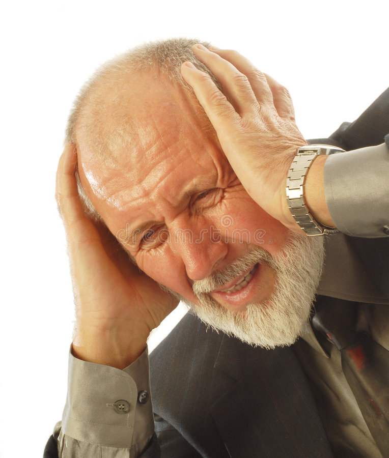 Stress at work stock photography