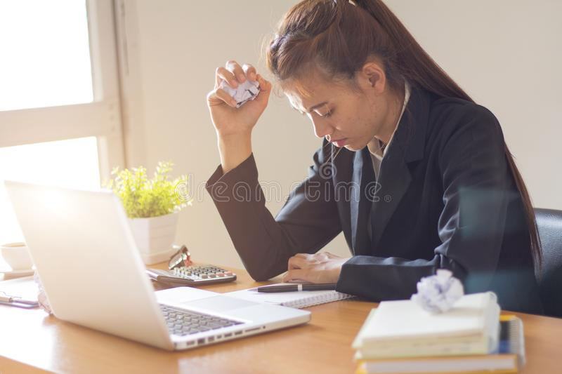 Stress at work, failure to work, business failure. Stress at work, failure to work, business failure stock photography