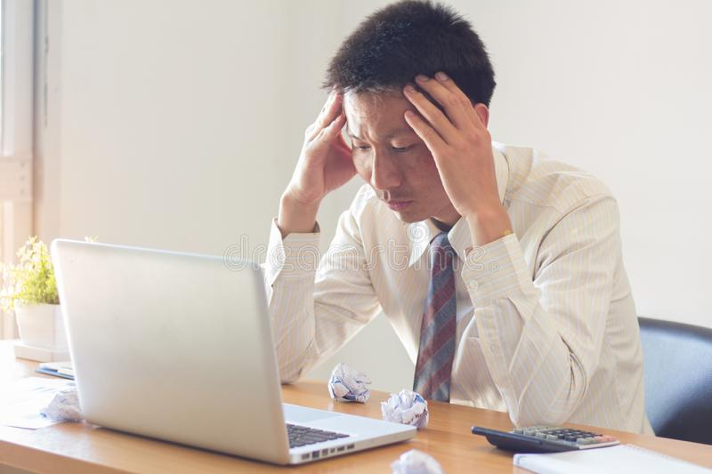 Stress at work, failure to work, business failure. Stress at work, failure to work, business failure royalty free stock photography