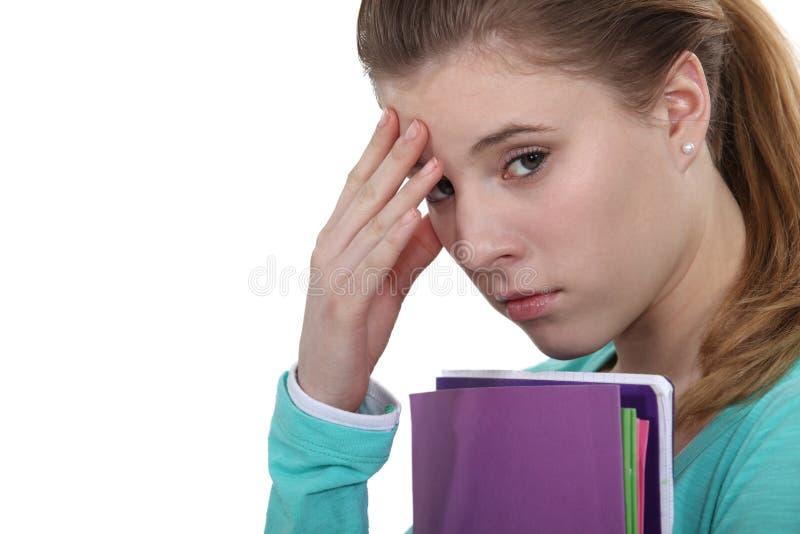 Stressad student arkivbilder