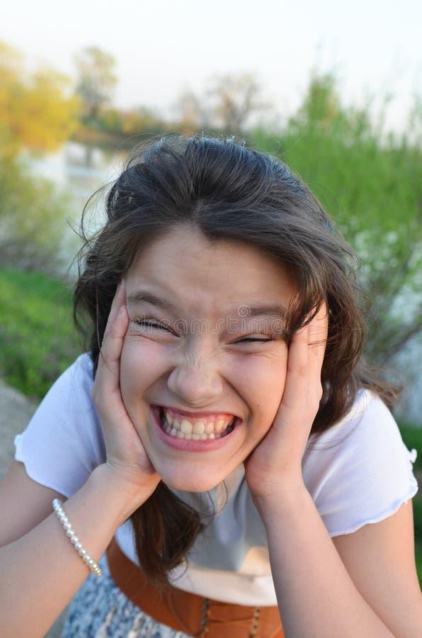 Stressad tonåring royaltyfria foton
