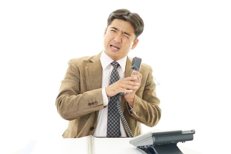 Download Stressed Asian businessman stock photo. Image of frustrated - 39506584