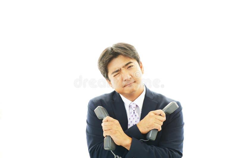 Download Stressed Asian businessman stock photo. Image of entrepreneur - 39507584
