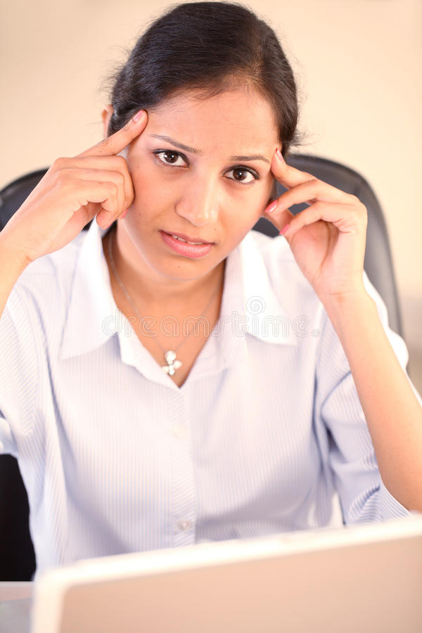 Download Stressed  business woman stock photo. Image of corporate - 21884012
