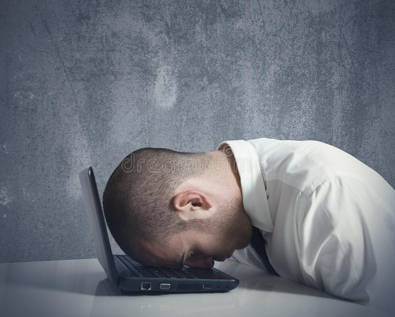 Download Stressed businessman stock photo. Image of business, exhausted - 28655240