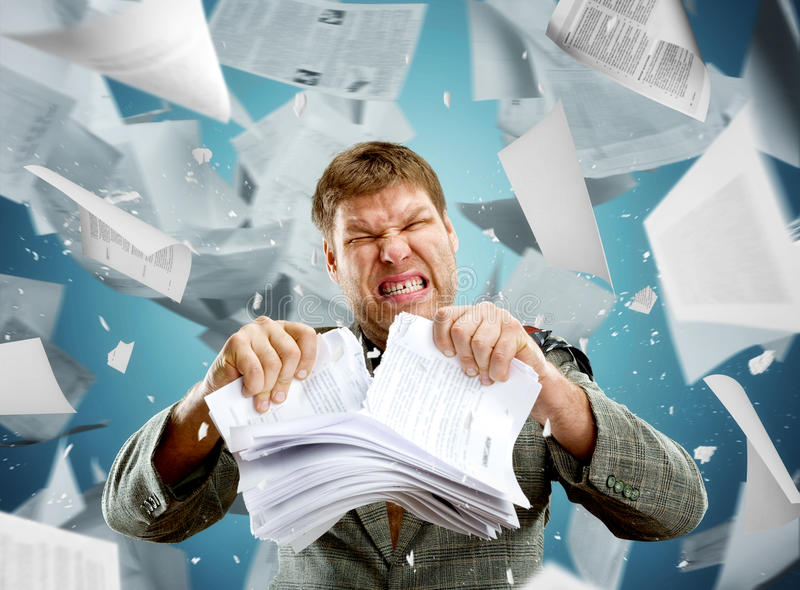 Stressed businessman royalty free stock photography