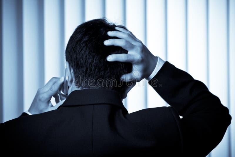 Stressed businessman royalty free stock photo