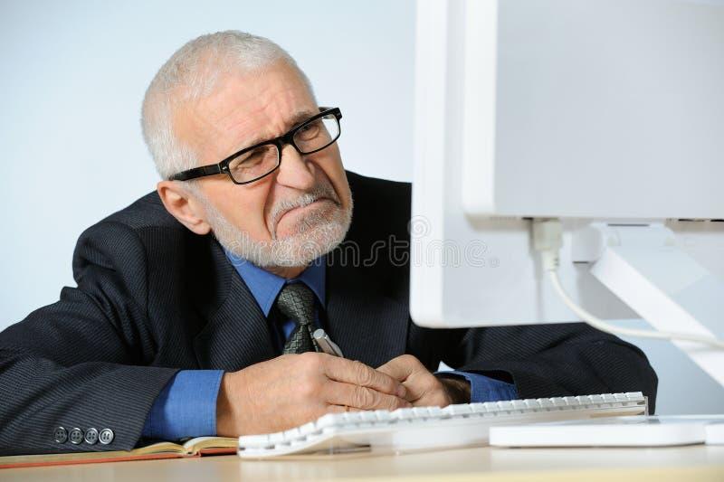 Stressed businessman. Horizontal image of stressed businessman stock images