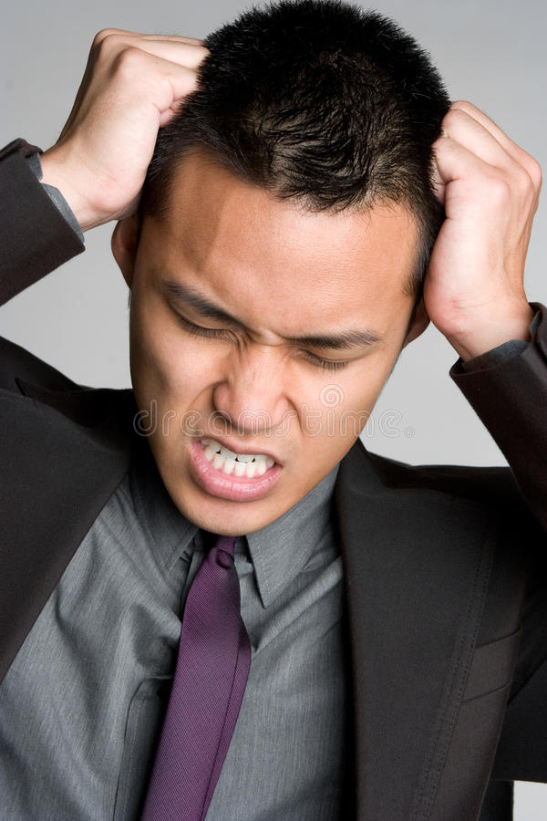 Download Stressed Businessman stock image. Image of suit, hands - 9826509