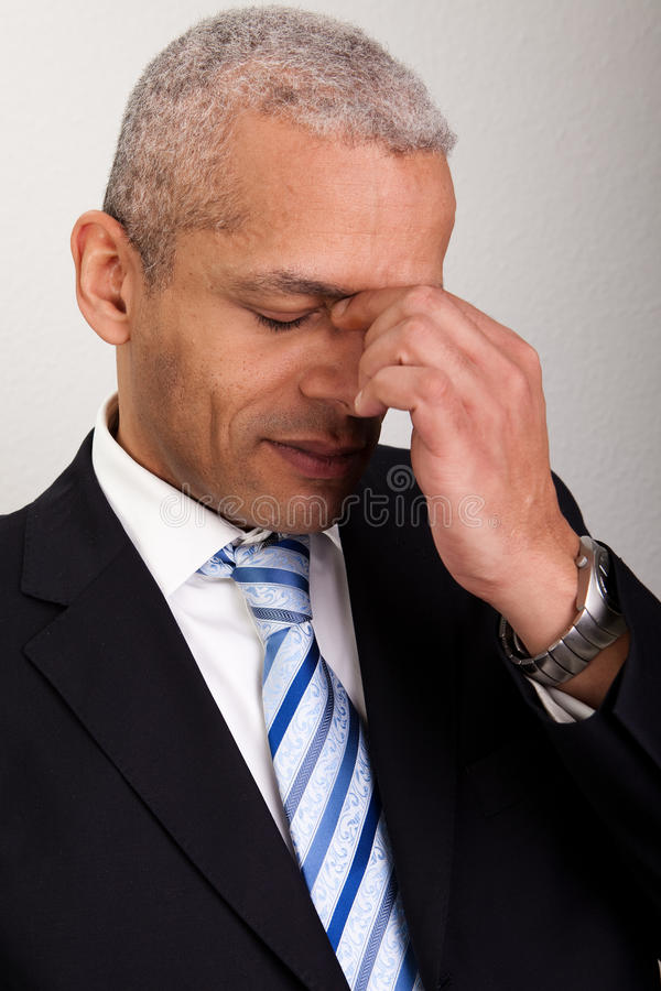 Download Stressed Businessman Man stock photo. Image of holding - 17659012