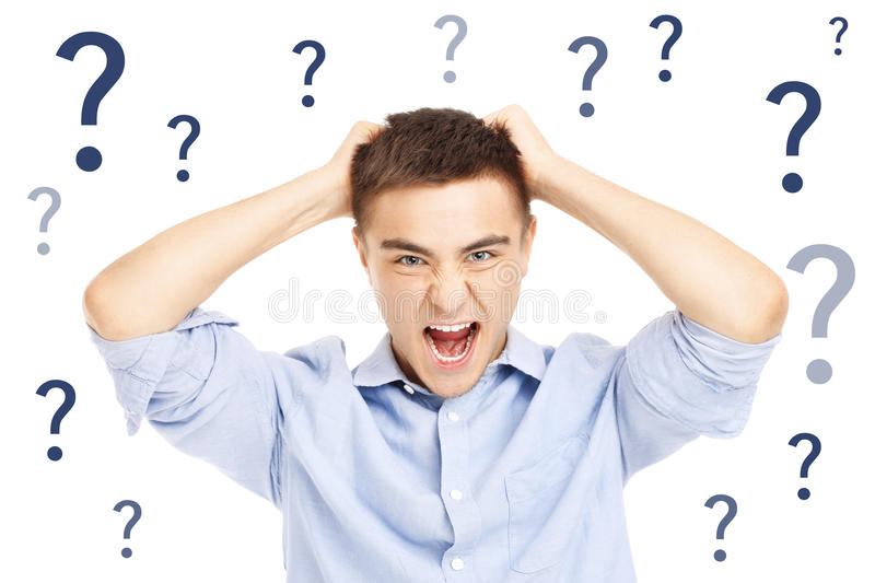 Download Stressed businessman stock image. Image of angry, questions - 39504229