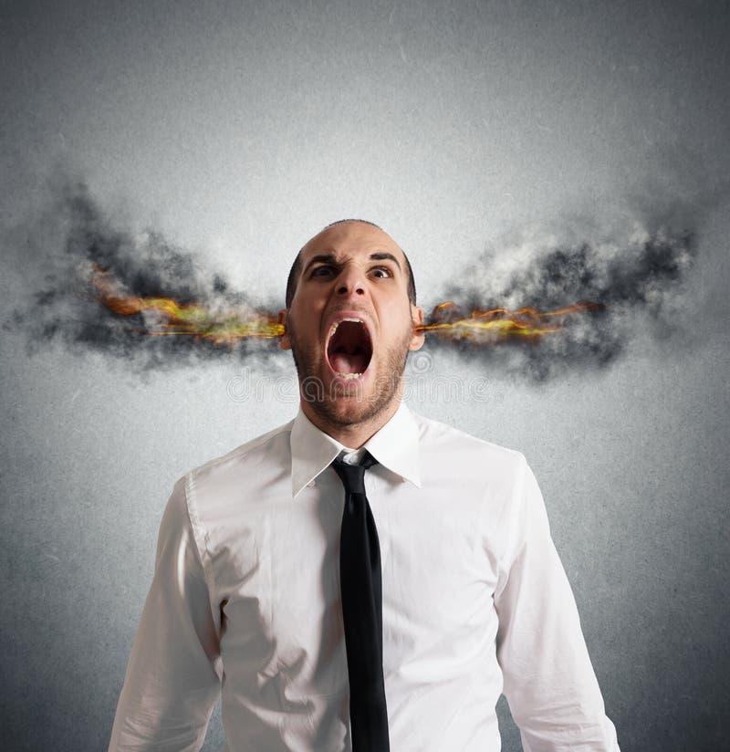 Stressed businessman stock photo