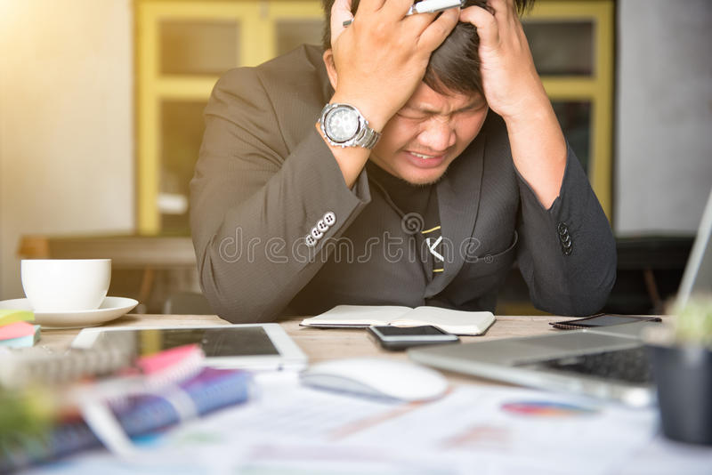Stressed businessman royalty free stock images
