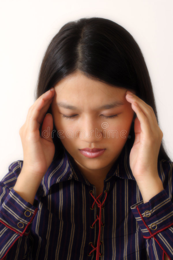 Stressed businesswoman royalty free stock image