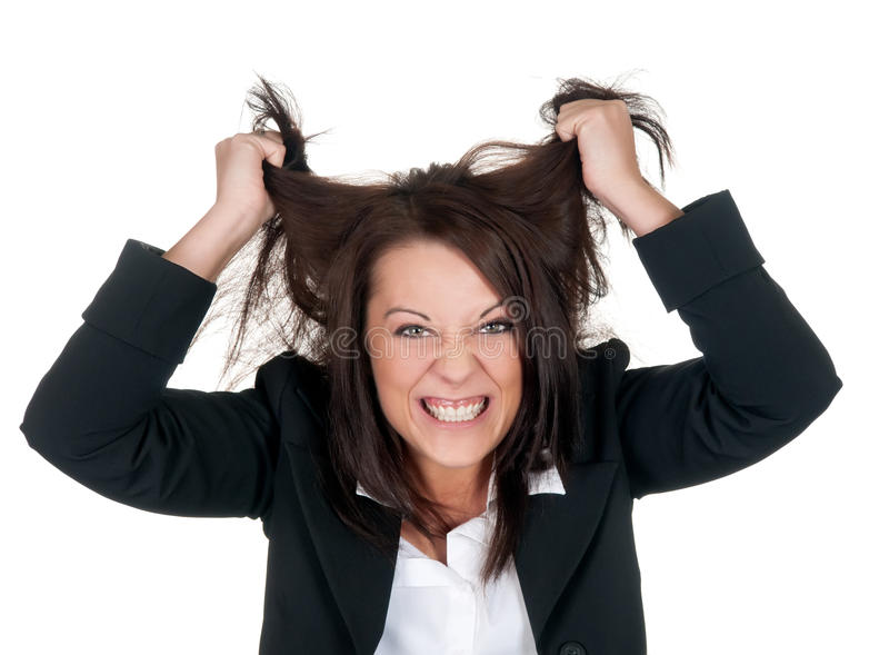 Stressed Businesswoman Stock Photos