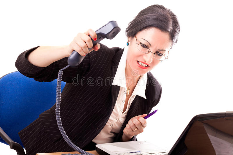 Download Stressed Businesswoman stock photo. Image of desk, sitting - 31713892