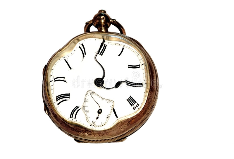 Stressed clock stress and time concept royalty free stock image