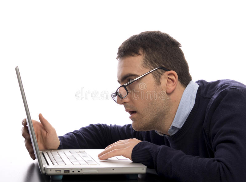 Download Stressed comuter  worker stock image. Image of laptop - 27888587