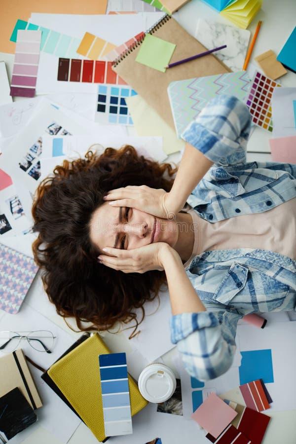 Stressed Designer stock image