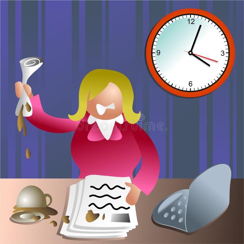 Download Stressed executive stock illustration. Illustration of annoyed - 383951