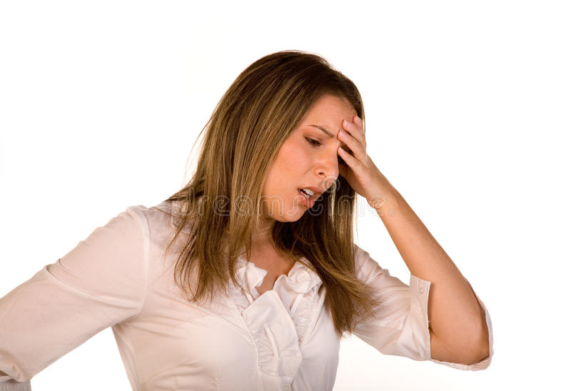 Stressed Female stock images