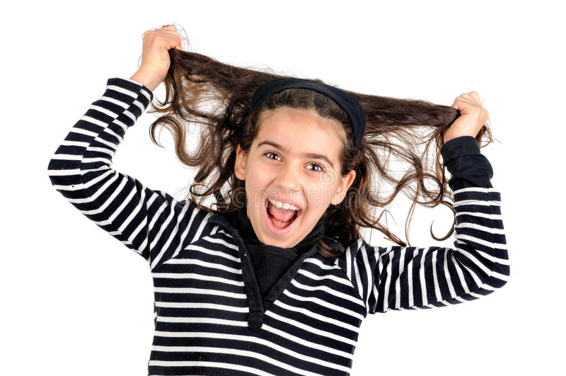 Stressed kid stock images