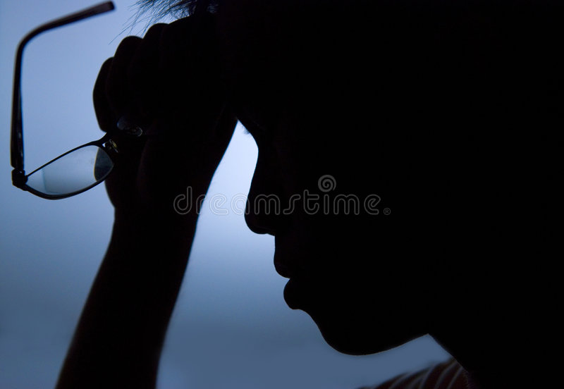 Stressed male stock images