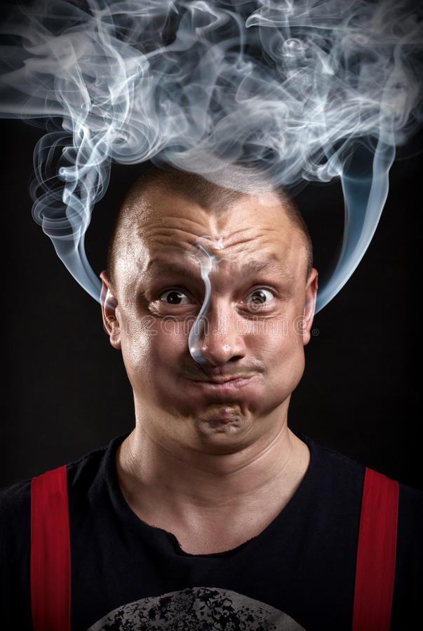 Download Stressed man stock image. Image of brain, problems, illness - 26832661
