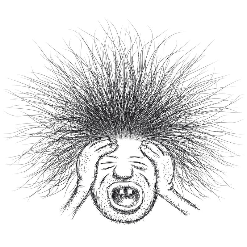 Download Stressed man stock vector. Image of frustrated, drawing - 29004375