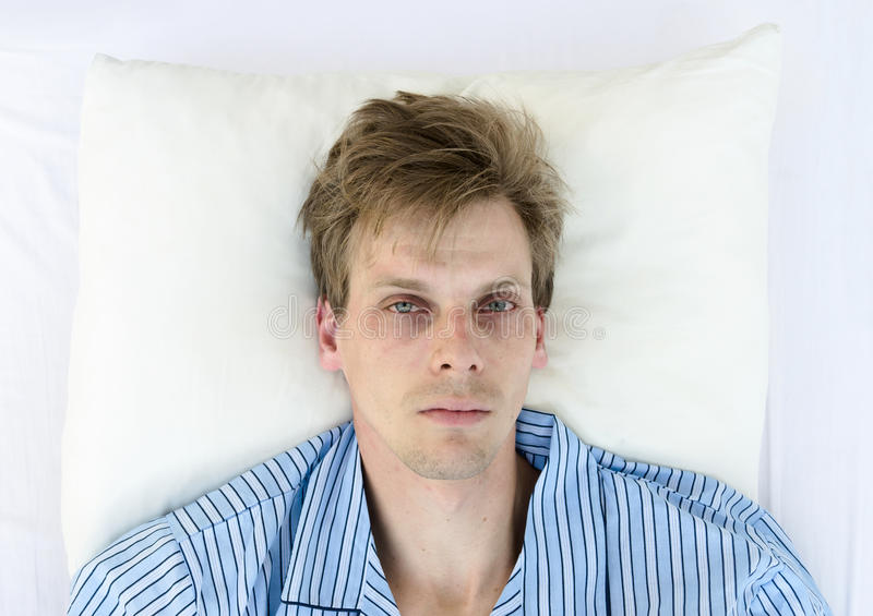 Download Stressed man stock image. Image of sleep, pillow, noisy - 29735441