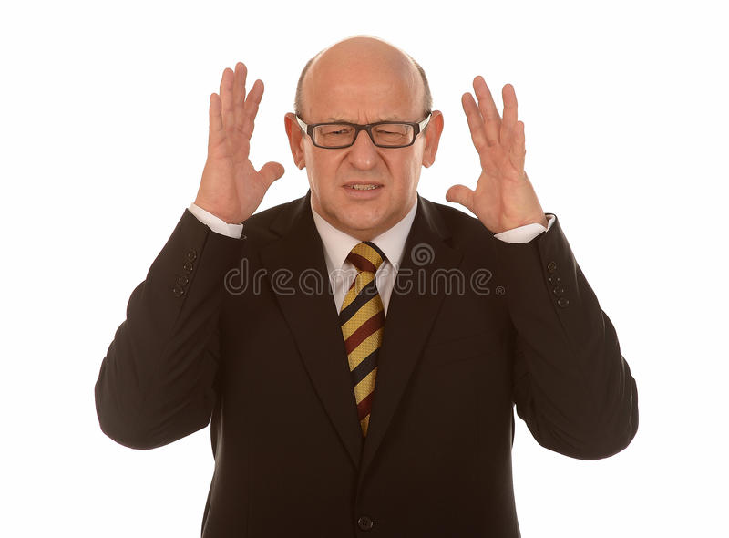 Download Stressed Mature Businessman Stock Image - Image: 28068193