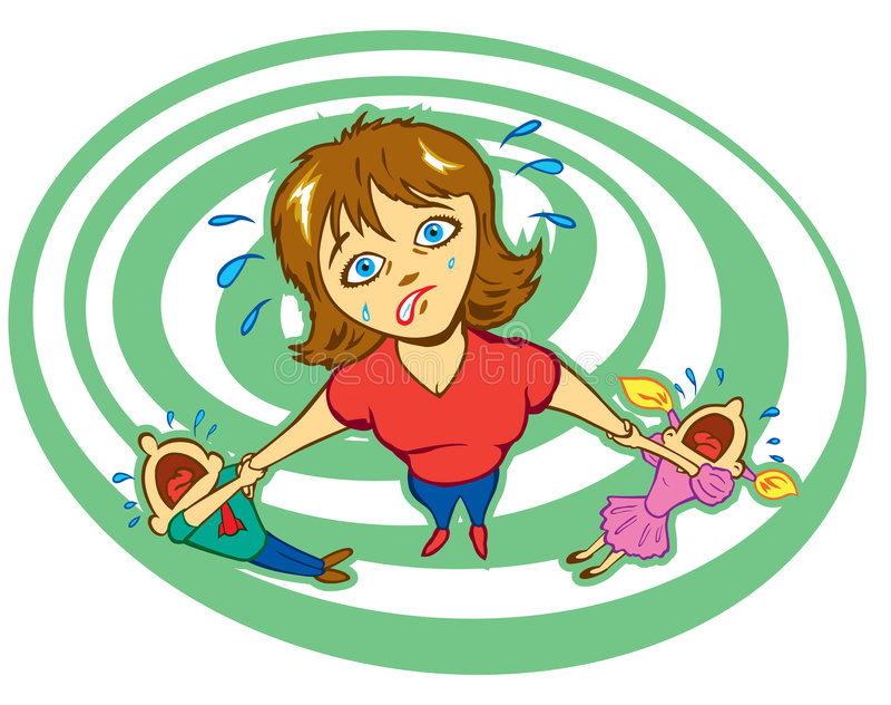 Stressed Mother stock illustration