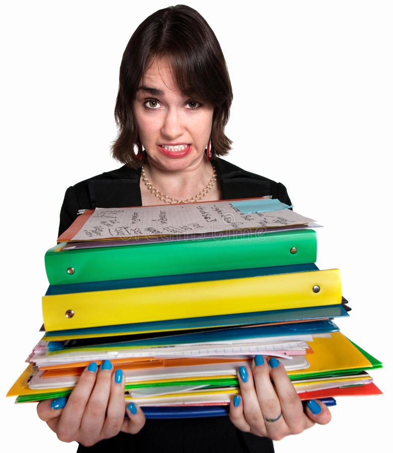 Download Stressed Out Assistant stock photo. Image of copyspace - 25530828
