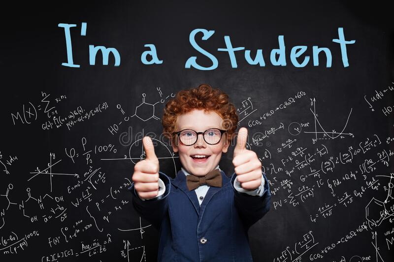 Stressed out. Child passed the exams in primary school royalty free stock images
