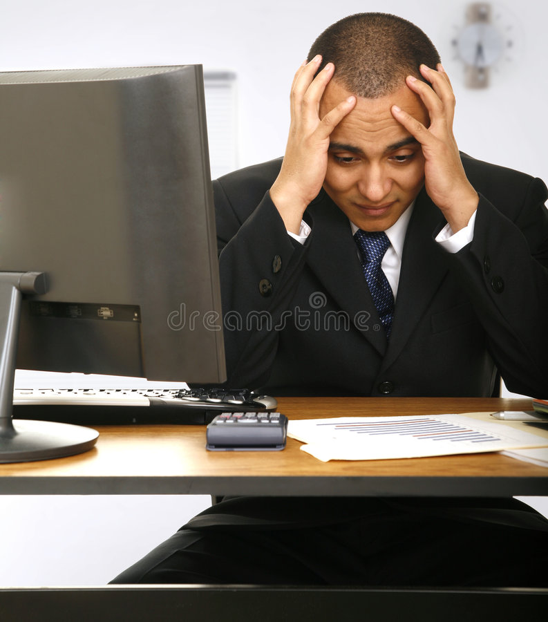 Download Stressed Out Employee stock photo. Image of male, expression - 4798166